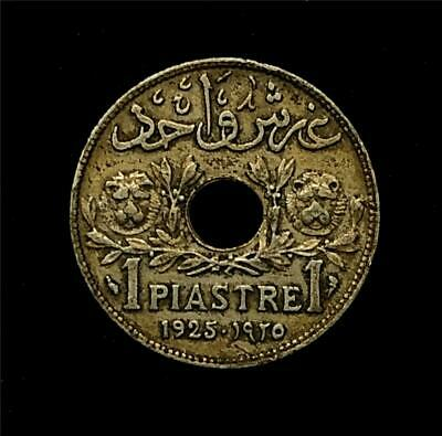 1925 1 Ghirsh/Piastre Lebanon KM#3 Copper-Nickel-AU/UNC BIN0004