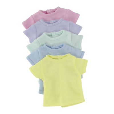 14 Inch Doll Clothes/Clothing | Rainbow T-Shirts Value Set - 5 Different Pastel