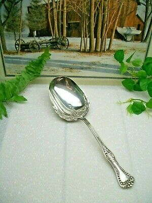 "Antique Forbes Silver Co.  CLOVIS  8.5""   Silverplate Casserole Berry Spoon 1898"
