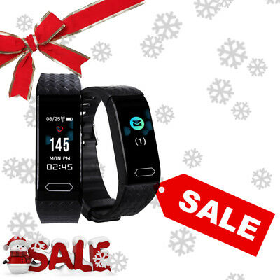 Diggro Bracelet intelligent Pédomètre Heart Rate Tracker for Android IOS HD Noir