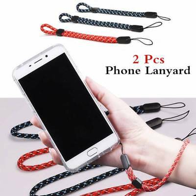 2pcs Wrist Lanyard Phone Strap Mobile Hand Cell Mp4 ID Pass Straps Mp3 Camera