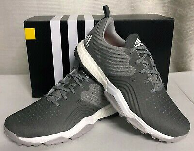 Adidas Adipower 4orged Mens Spikeless Golf Shoes - Gray Two Gray Four Raw Amber