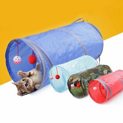 Foldable Pet Dogs Cats Tunnel Toys Indoor Outdoor Home Folding Training Tunnel@+