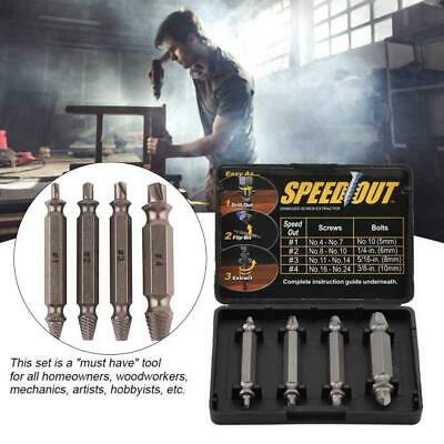 4PCS Broken Bolt Damage Screw Remover Extractor Drill Bits Easy Out Stud Reverse