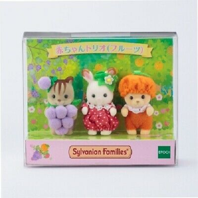 Sylvanian Families Baby Trio Fruit motif fan club Calico Critters Official Gift