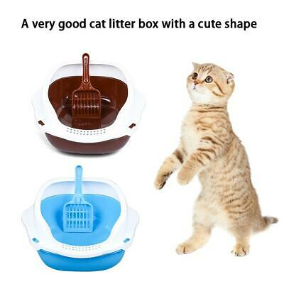 Clean Pet Cat Kitty Open Top Regular Litter Box With Shield And Scoop
