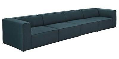 4-Pc Living Room Upholstered Sectional Sofa Set in Blue [ID 3794014]