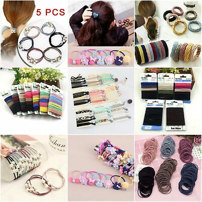 New Girl Elastic Rubber Hair Ties Band Rope Ponytail Holder Resilience Seamless