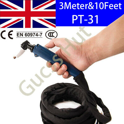 10/13/16/23Feet PT-31 Cut 40 Plasma Cutter Torch Cutting Gun Head Blue handle