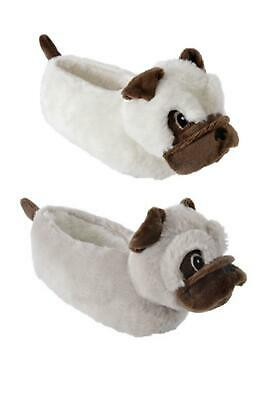 Girls Pug Slippers Childrens Footwear 3D Novelty Gift