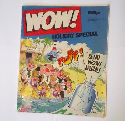 WOW! Holiday Special 1987 Collectable Childrens Kids UK Humour Humor Comic *