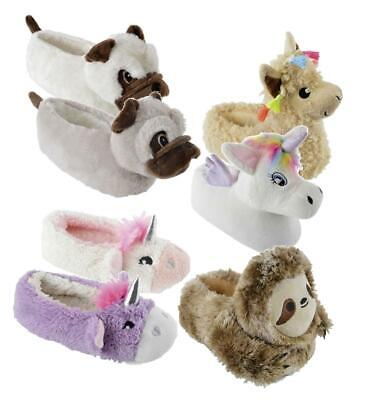 Girls Boys Novelty Slippers 3D Children's Gift Footwear