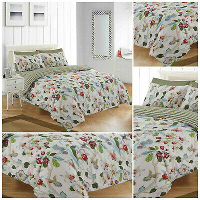 Duvet With Pillow Case Bedding Set Quilt Cover Single Double King Fitted Sheets