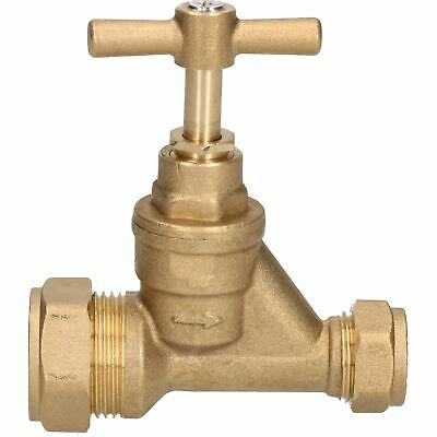 20 x 15mm Poly Stop Cock Mains Shut-Off Copper MDPE Burst Pipe Compression