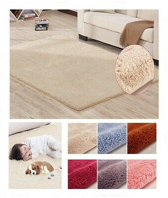 Large Super Absorbant Home Fluffy Rugs Anti-Skid Shaggy Pile BedRoom Carpet Mat