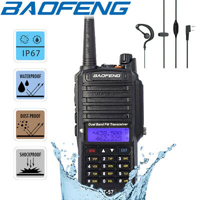 Baofeng IP67 Waterproof Walkie Talkie Two Way Dual Band Ham FM Radio / USB Cable