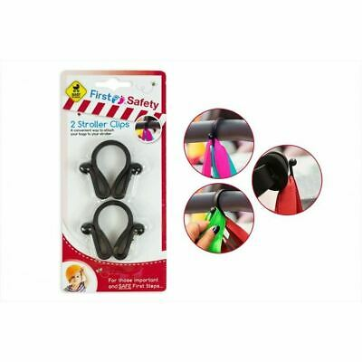 4 Stroller Clips Buggy Hooks Pram Baby Pushchair Shopping Bag Holder Plastic