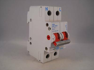 GE Main Switch Disconnector 100 Amp Double Pole Isolator 100A 033/38029-369