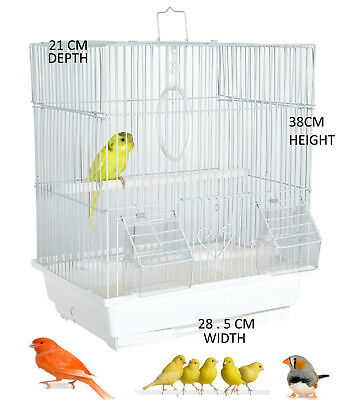 Steady Pet Ting Daffodil Bird Cage For Finch Canary Budgie Pet Supplies Small Bird Cage White Bird Supplies