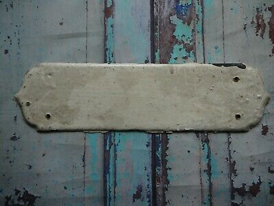 FP145 Reclaimed Salvaged Old Original Door Finger Plate (70 x 275mm)