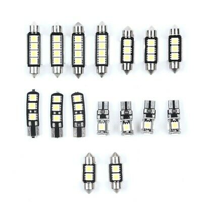16xwhite Smd Led Interior Lights Kit For Audi A4 S4 Rs4 B8 Avant Canbus No Error