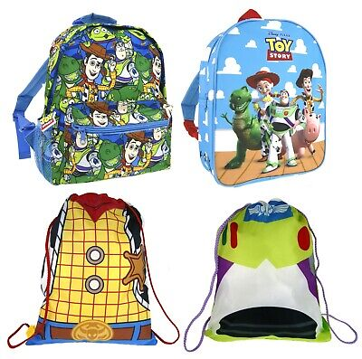 Disney Toy Story Backpack Woody Buzz Lightyear Gym Drawstring Bag Rucksack Range