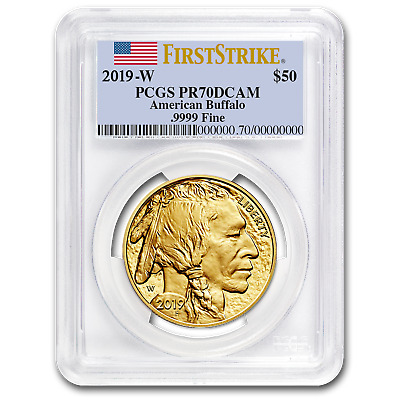 2019-W 1 oz Proof Gold Buffalo PR-70 PCGS (FS, Flag Label) - SKU#191150