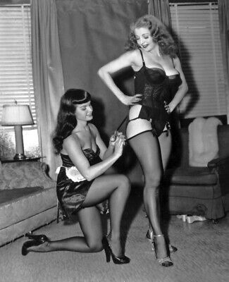 """Betty Page Tempest Storm 14 x 11"""" Photo Print"""