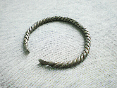 RARE ANCIENT Viking Silver Twisted Wire Bracelet Viking 9 -10 century AD  26 gr.