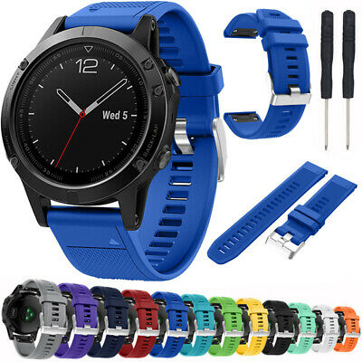 Replacement Silicone Wristwatch Bands W/ Tool for Garmin Fenix 5X/Forerunner 935