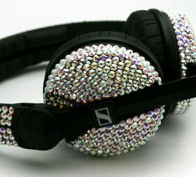 Custom Cans Swarovski Crystal Encrusted  HD25 2016 with 2 year Warranty