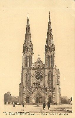 Cp Chateauroux Eglise St-Andre