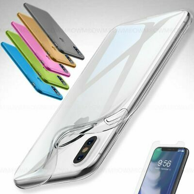 Case for iPhone XS MAX XR X 8 7 6s 6 5s Ultra Thin Slim TPU Gel Skin Cover Pouch