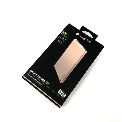Mophie Powerstation 3X - Power bank 6,000 mAh Rose Gold (for USB Devices) #4249