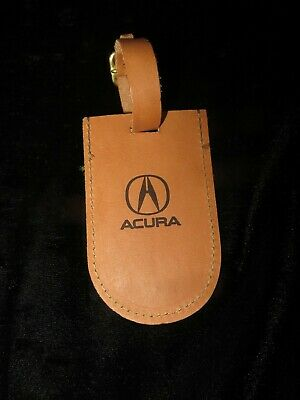 ACURA / HARTMANN Leather Luggage Tag - New Old Stock
