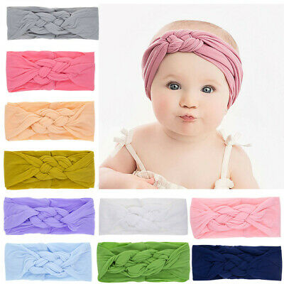 Toddler Infant Kids Baby Girls Turban Elastic Headband Headwear Accessories