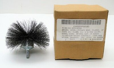 """New Surplus 4"""" Flared Rotary End Spiral Wire Brush"""