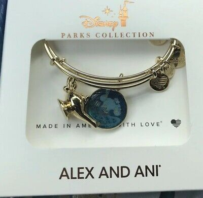 Disney Alex And And Ani Aladdin Genie And Lamp Gold Color Bracelet Set New