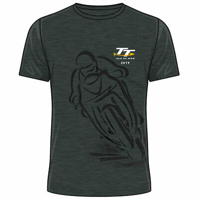 Official 2019 Isle of Man TT Races Shadow T'Shirt (Heather) - 19ATS3