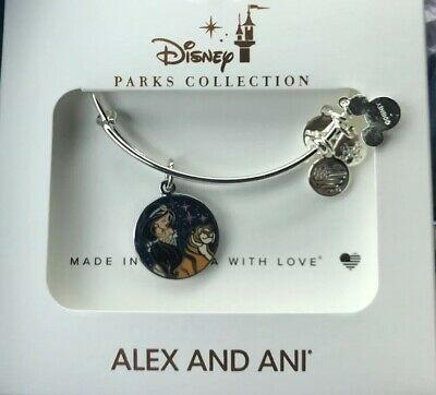 Disney Alex And And Ani Aladdin Jasmine Rajah Heart Of Courage Silver Bracelet