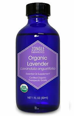 Zongle USDA Certified Organic Lavender Essential Oil, Bulgarian, Safe To Ingest,