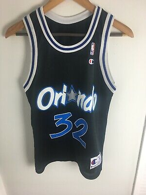7061035e384 VINTAGE SHAQUILLE ONEAL ORLANDO MAGIC SIZE 36 CHAMPION SHAQ NBA #32 JERSEY  Blue