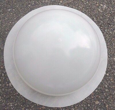 "1/8th"" poly plastic mold concrete plaster half sphere 10"" W mould"