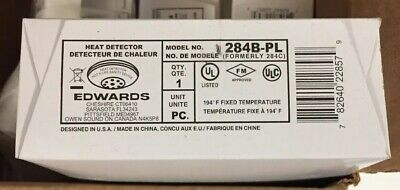 Lot Of 4 Edwards Signing Heat Detector 284B-PL