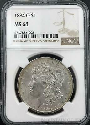 1884-O Morgan Dollar $1 Dollar NGC Graded MS64 Silver Coin (CO-HX-4727827-008)