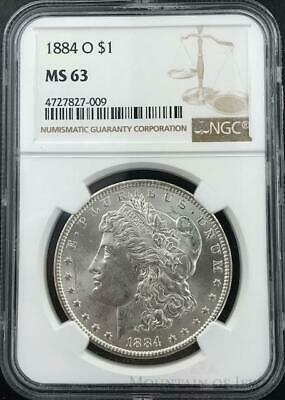1884-O Morgan Dollar $1 Dollar NGC Graded MS63 Silver Coin (CO-HX-4727827-009)