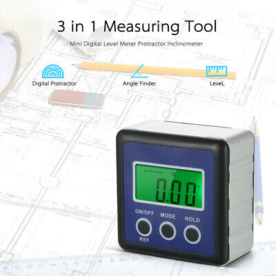 Digital Level Meter Protractor Angle Gauge Finder Inclinometer 4x90 Degree O4D7