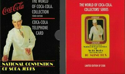 1995 Collectible Sprint Coca Cola Convention of Soda Jerks Prepaid Phone Card