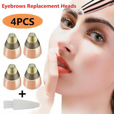 4 PCS Replacement Heads For Flawless Finishing Touch Brows Eyebrow Trimmer US
