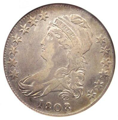 1808/7 Capped Bust Half Dollar 50C Coin O-101 - ANACS XF40 Details - Rare Date!